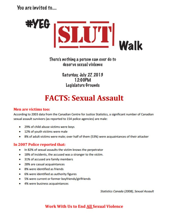 #YEG Slut Walk